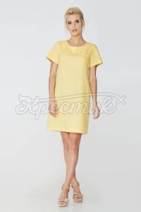 Сукня рівного крою з льону фото
