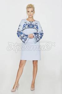 Ніжне плаття-трапеція з костюмної тканини фото