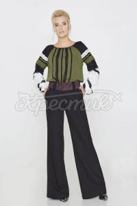 Однотонні брюки класичного чорного кольору фото