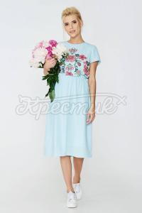 Ніжне плаття з костюмної тканини фото