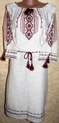 """Украинское платье с вышивкой """"Традиция"""""""