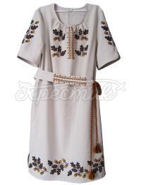 Украинское платье с вышивкой дуба