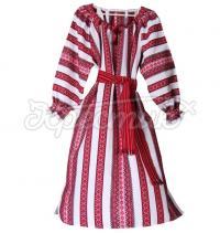 Украинское платье из декоративной ткани