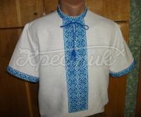 Украинская вышиванка мужская с коротким рукавом