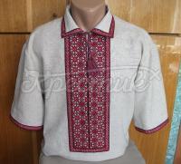 Вишиванка українська чоловіча з коротким рукавом