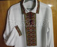 Рубашка мужская вышиванка с воротником