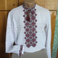 Рубашка мужская вышиванка с ромбами