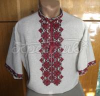 Мужская вышиванка с коротким рукавом Киев