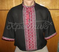 Чоловічі вишиванки на літо з коротким рукавом замовити
