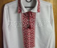 Сорочка вишиванка чоловіча в червоно-чорних кольорах купити