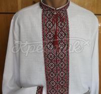 Мужская вышиванка с богатой вышивкой купить Киев
