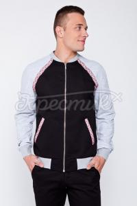 Чоловіча спортивна куртка з вставками орнаменту