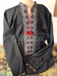 Чорна чоловіча вишиванка купити Київ