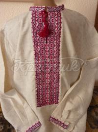 Чоловіча вишиванка ручної роботи на льоні купити Київ