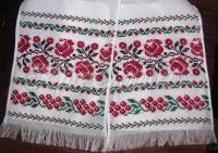 Весільний рушник в українському стилі
