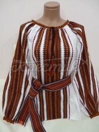 Жіноча вишиванка ткана оранж
