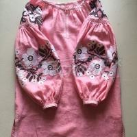 """Жіноча вишита коралова блуза """"Киара"""" фото"""