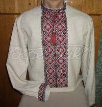 Красива вишиванка українська чоловіча льон