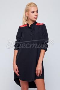 Українське плаття-туніка жіноче чкрного кольору фото
