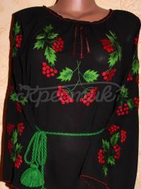 Вишитий чорне шифонова жіноче плаття в інтернет-магазині вишиванок