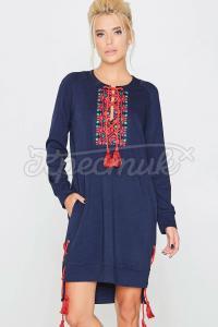 Оригінальна сукня з яскравими кісточками фото