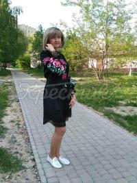 """Платье вышиванка """"Клюква"""" фото"""
