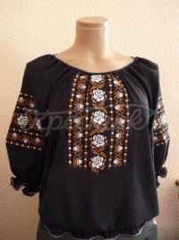 Блуза на чорному шифоні