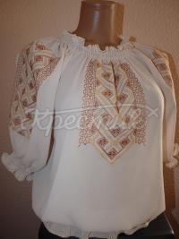 Блузка шифонова з вишивкою