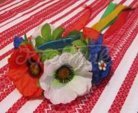 Український вінок з польовими квітами замовити Київ