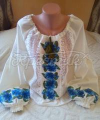 Женская блузка Синие Лилии фото