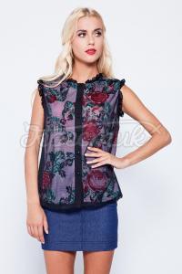 Українська жіноча блузка з квітковим принтом купити Київ