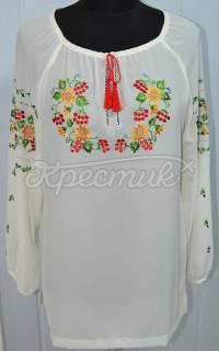 Шифонова блузка біла жіноча купити