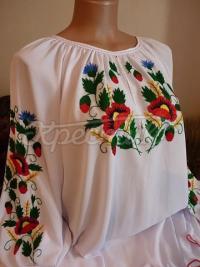 Вишиванка блузка з шифону жіноча купити