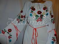 Жіноча шифонова блузка польові квіти купити Київ
