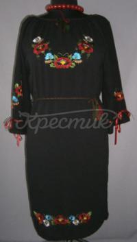 Женское платье из шифона черное купить