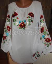 Нарядная женская блузка из шифона белая купить
