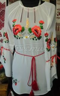 Біла блузка з шифону жіноча купити Київ