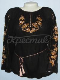 Черная женская шифоновая блузка купить Киев