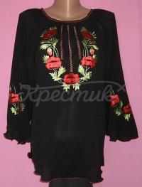 Женская блузка из шифона с маками купить