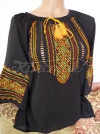 Шифонова вишита блузка для жінок купити
