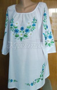 Вишита біла жіноча блузка