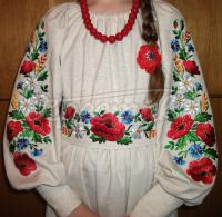 Українське льняне плаття з вишивкою