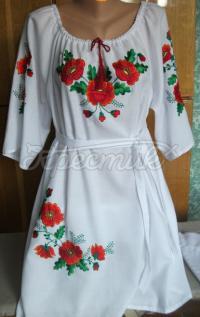 Українське жіноче плаття з вишивкою