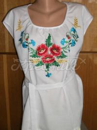 Українське вишите плаття без рукавів