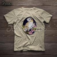 """Жіноча футболка ручного розпису """"Ніжна сова"""" фото"""