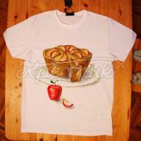"""Жіноча футболка ручного розпису """"Шматочок сладенького"""" фото"""