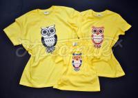 Футболки ручной росписи для всей семьи совы фемили лук фото