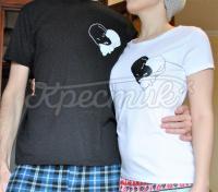 """Парные футболки ручной росписи """"ИньЯнь"""" фото"""