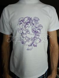 """Чоловіча футболка з малюнком ручної роботи """"Ганеша"""" фото"""