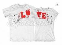 "Парні футболки ""Love"" фото"